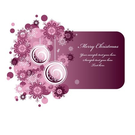 Christmas Banner  Vector Illustration  Stock Vector - 21678703