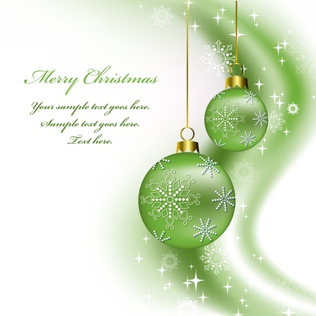 ornamented: Christmas Background  Vector Illustration