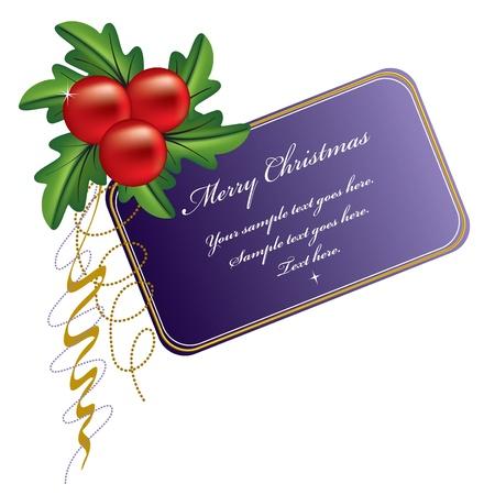 holiday celebrations: Christmas Banner  Vector Illustration