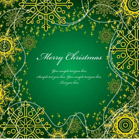 green swirl: Christmas Background  Vector Illustration