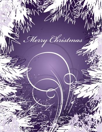 christmas tree purple: Christmas Background  Vector Illustration  Illustration