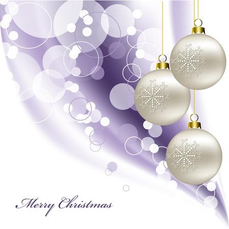 ornamented: Christmas Background . Illustration.
