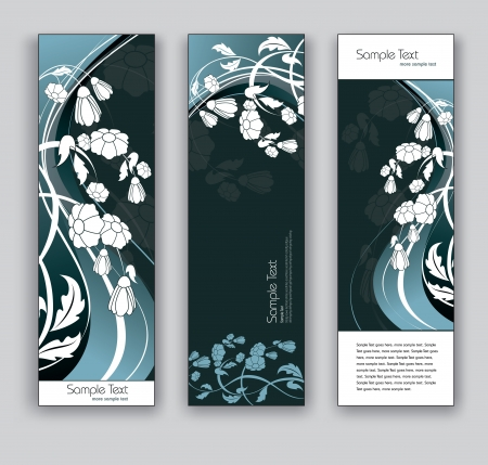 Banners  Abstract Backgrounds  Floral Theme  Vector