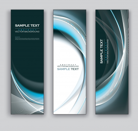 Abstract Banners  Backgrounds   Vector