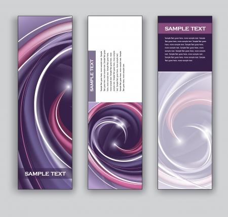 Abstract Banners Fondos Ilustración de vector