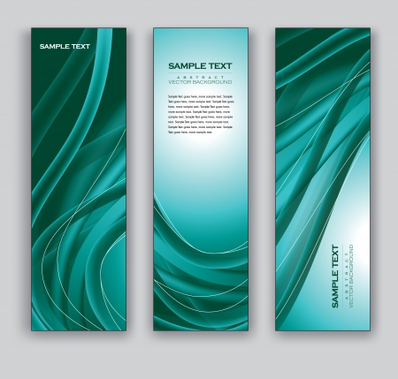 turquoise swirl: Abstract Banners  Backgrounds