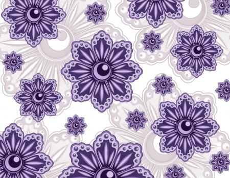 textiles: Floral Background  Illustration