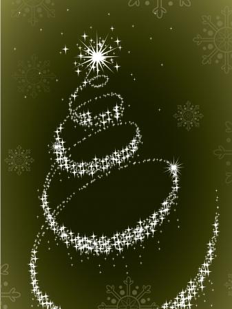 xmas tree: Christmas Background  Illustration