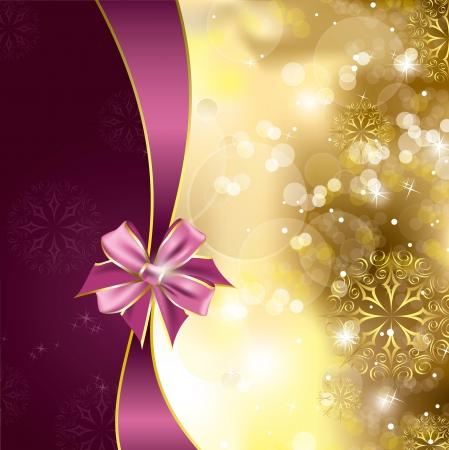 christmas ribbon: Christmas Background  Illustration