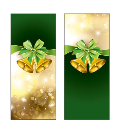 Greeting cards with golden bows  illustration   Vector