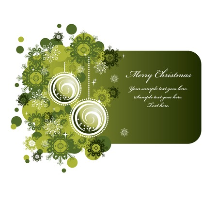 olive green: Christmas Banner  Design  Illustration