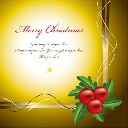 burgundy ribbon: Christmas Background Abstract Illustrazione Vettoriali