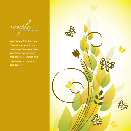 butterfly background: Floral Background  Abstract Illustration  Illustration