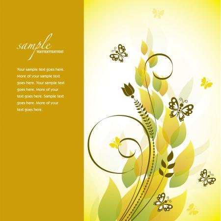 mariposas amarillas: Floral Resumen Antecedentes Ilustración
