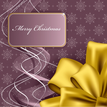 purple and gold: Christmas Background  Abstract Illustration  Illustration
