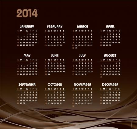 2014 Calendar  Stock Vector - 22398801
