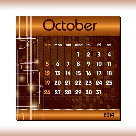 kalender oktober: 2014 Kalender oktober