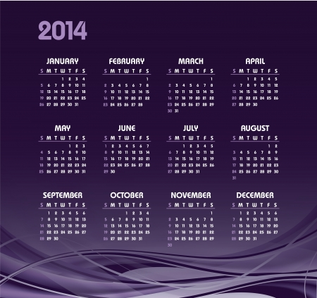 2014 Calendar  Vector Background  Vector