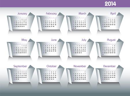 2014 Calendar  Vector Background Stock Vector - 22619652
