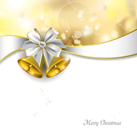 jingle bell: Christmas Background with golden bells  Abstract Design