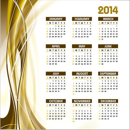 2014 Calendar  Vector Design Stock Vector - 23011157