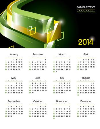 2014 Calendar  Vector Design  Vector