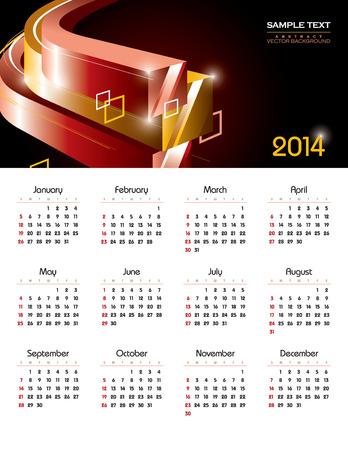 2014 Calendar  Vector Design