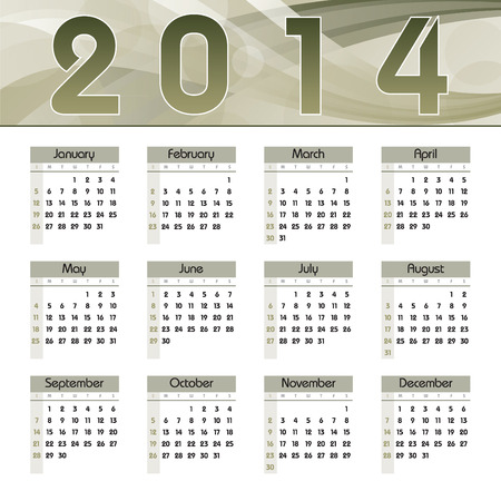 2014 Calendar  Vector Design  Stock Vector - 23011179