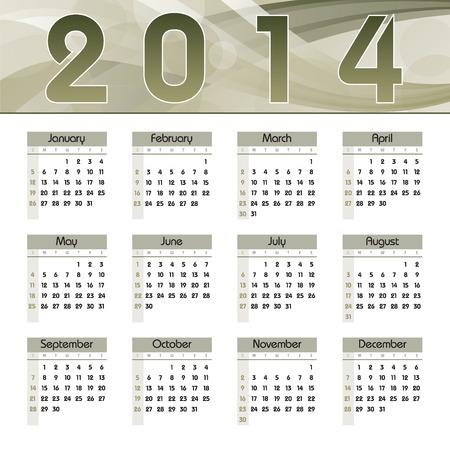 2014 Calendar  Vector Design Stock Vector - 23011179