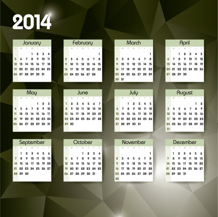 jammed: 2014 Calendar  Vector Design