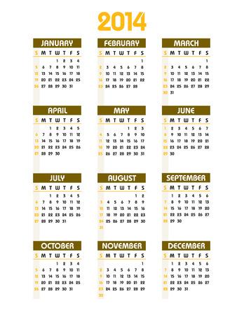 thursday: 2014 Calendar