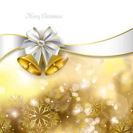 campanas de navidad: Campanas de Navidad Vector Illustration Vectores