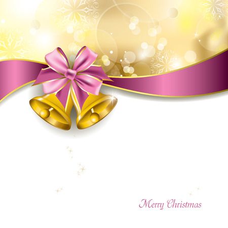 campanas navidad: Campanas de Navidad Vector Illustration Vectores