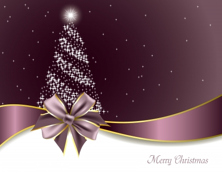 purple ribbon: Christmas Background