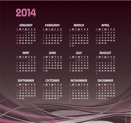 2014 Calendar  Vector Design Stock Vector - 24056234