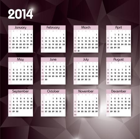 2014 Calendar  Vector Design  Stock Vector - 24056241