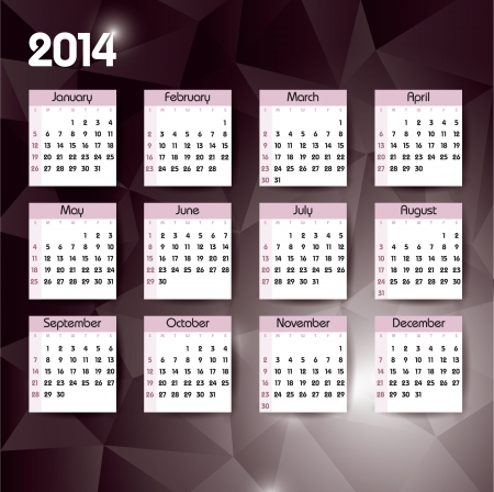 2014 Calendar  Vector Design Stock Vector - 24056241