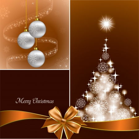 Christmas Background  Modern Vector Illustration  矢量图像