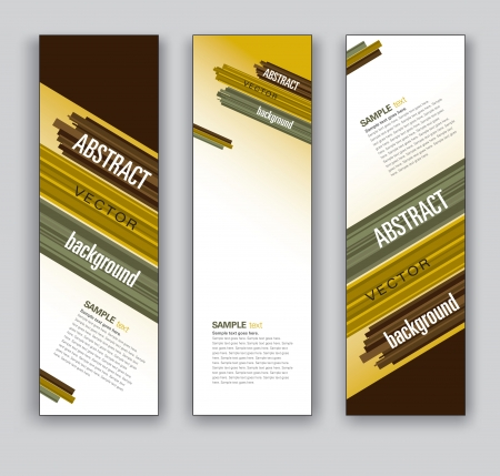 background brown: Vector Banners  Abstract Backgrounds