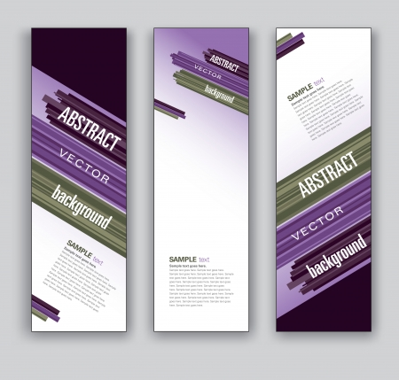 diagonal lines: Vector Banners  Abstract Backgrounds