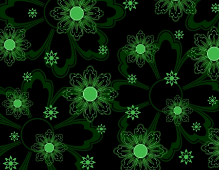 Floral Pattern  Abstract Illustration  Иллюстрация