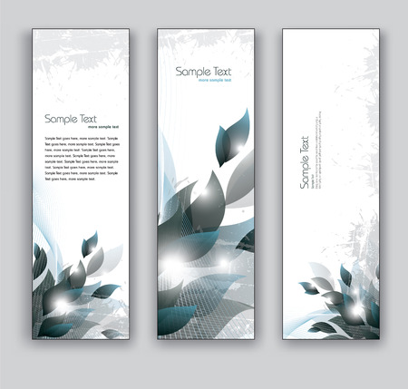 Banners  Set of Three Vector Designs  Vector