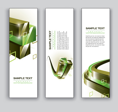 Banners  Set of Three Vector Designs  Ilustrace