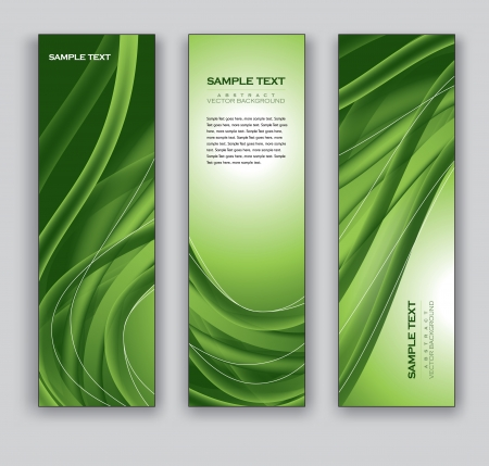 Banners  Set of Three Vector Designs  Vettoriali