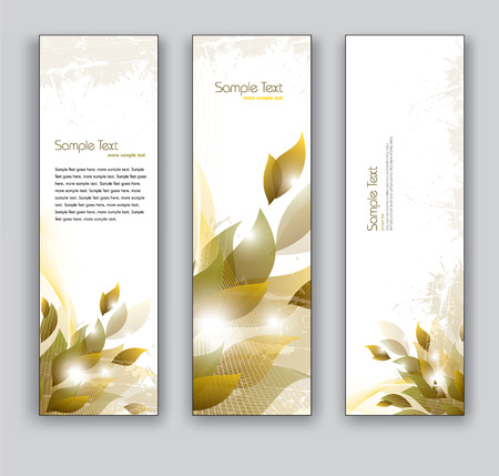 tree vertical: Banners  Set of Three Designs