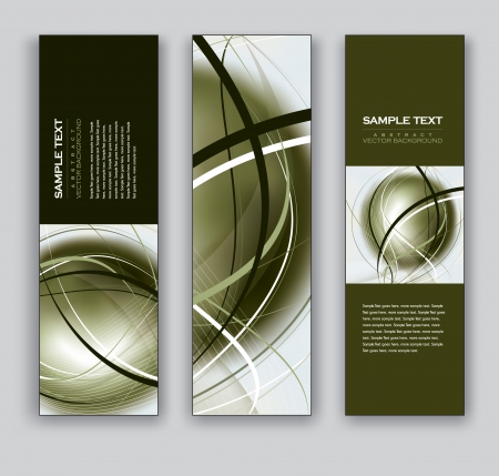 website backgrounds: Banners  Set of Three Designs