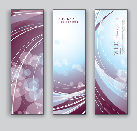 Banners  Set of Three Designs  Vector