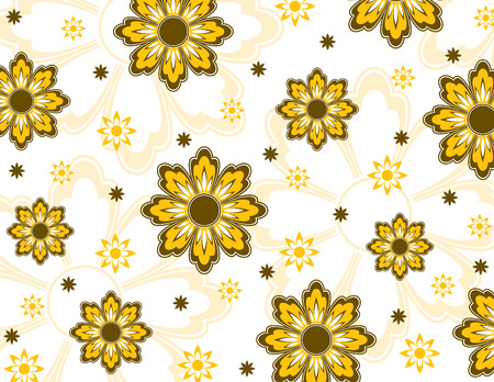 Floral Texture  Abstract Illustration