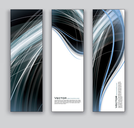 vertical image: Set of Three Banners  Vector Backgrounds