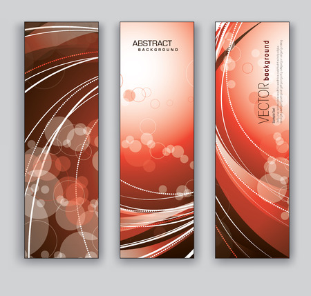 Set of Three Banners  Vector Backgrounds  Vector